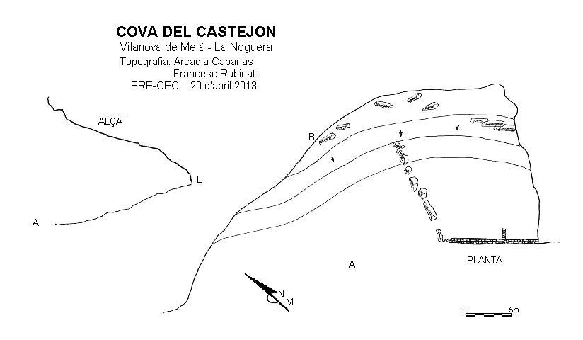 topo Cova del Castejon