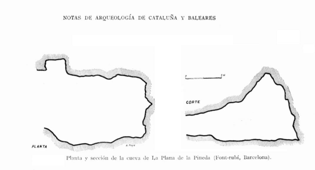 topo Cova de la Plana de la Pineda