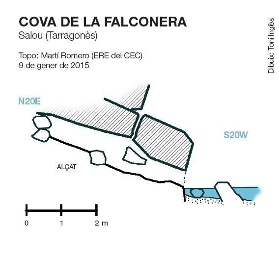 topo Cova de la Falconera