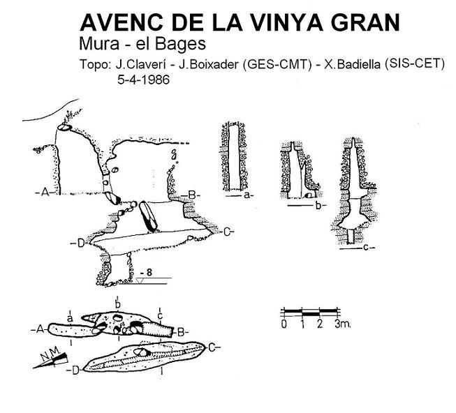 topo Avenc de la Vinya Gran