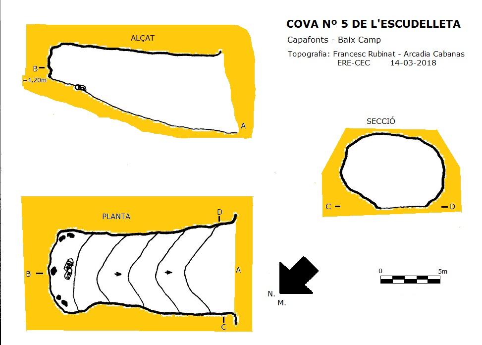 topo Cova Nº5 de l'Escudelleta