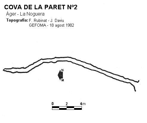 topo Cova de la Paret Nº2