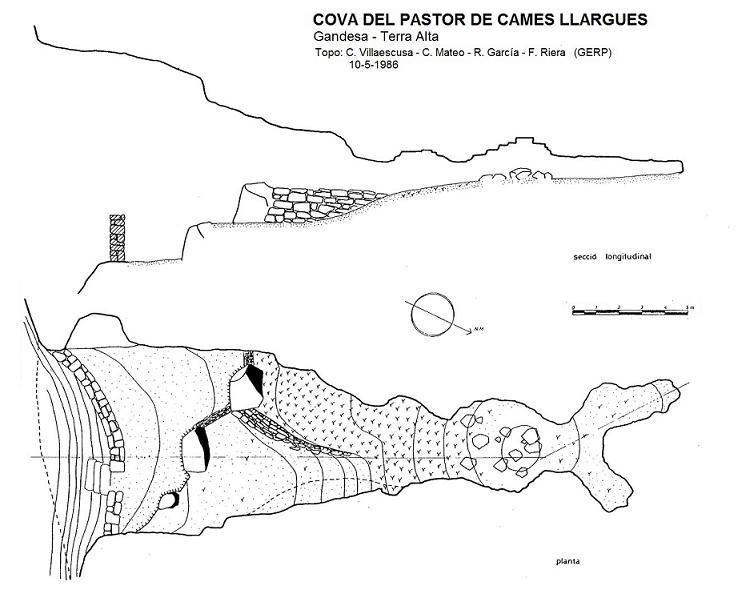 topo Cova del Pastor de Cames Llargues