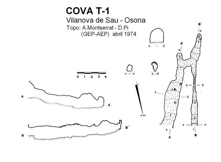 topo Cova T-1 de les Grioteres