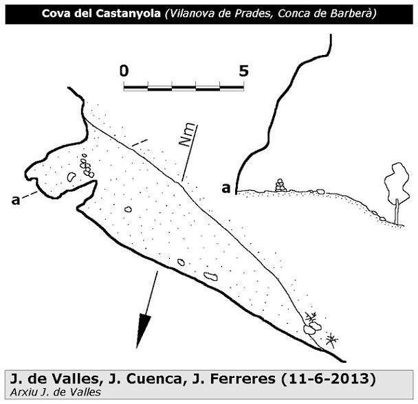 topo Cova del Castanyola