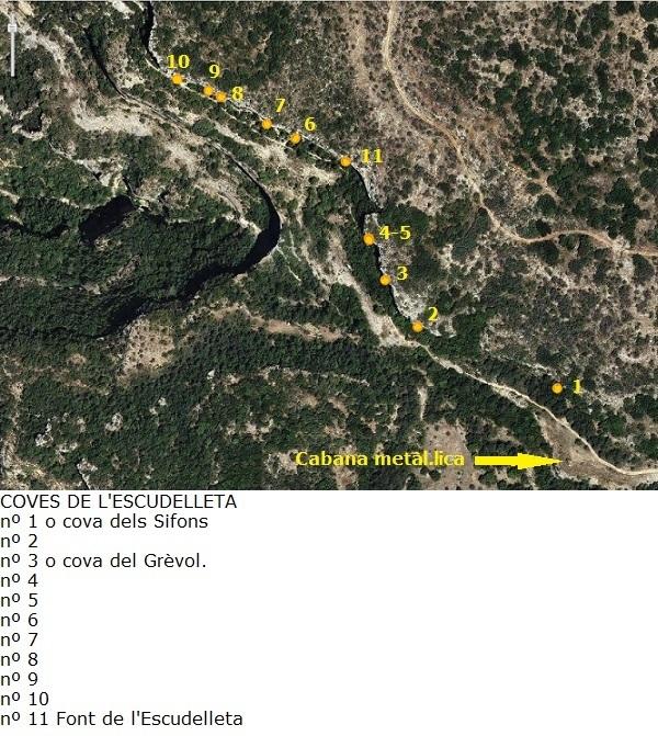 topo Cova Nº8 de l'Escudelleta