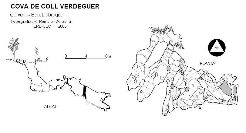 topo Cova de Coll Verdeguer