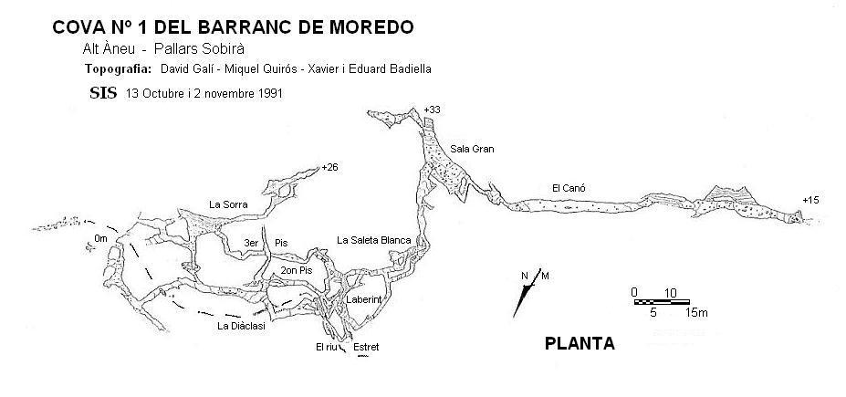 topo Cova Nº1 del Barranc de Moredo