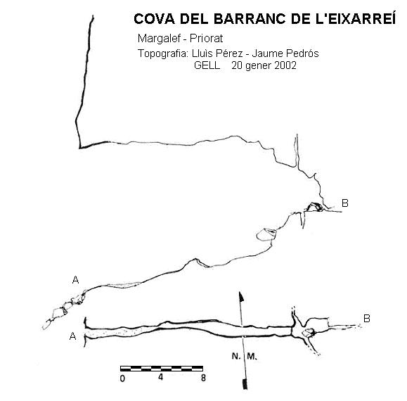 topo Cova del Barranc de l'eixarreí