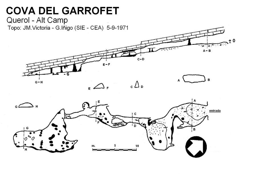 topo Cova del Garrofet