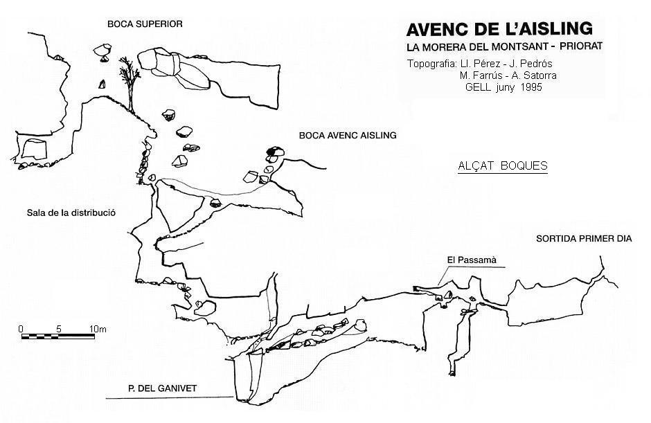 topo Avenc de l'Aisling