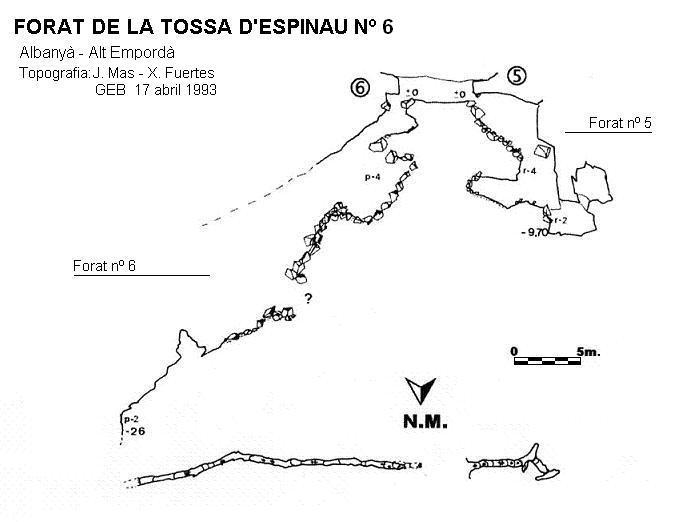 topo Forat de la Tossa d'espinau Nº6
