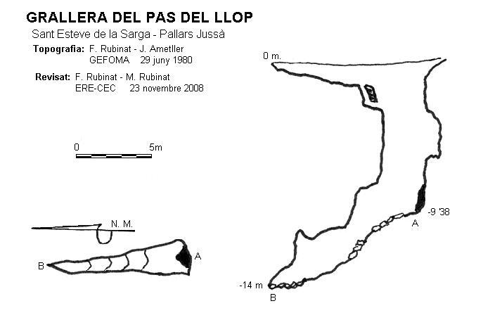 topo Grallera del Pas del Llop