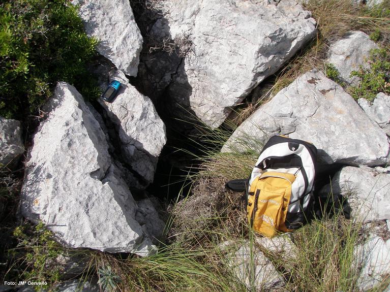 foto Avenc Sm-2 del Serrat de la Morella