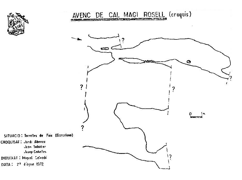 topo Cova de Cal Magí Rossell