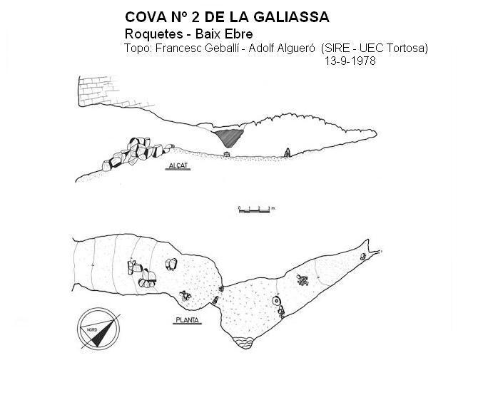 topo Cova Nº2 de la Galiassa