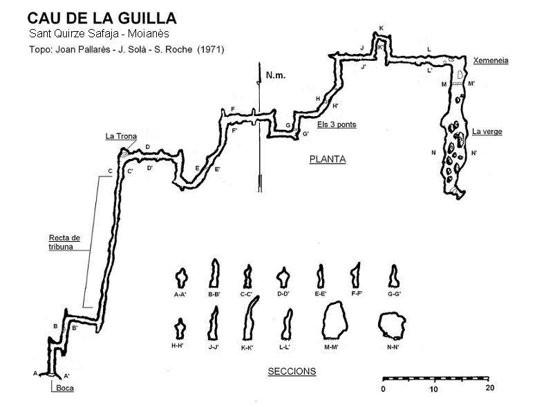 topo Cau de la Guilla