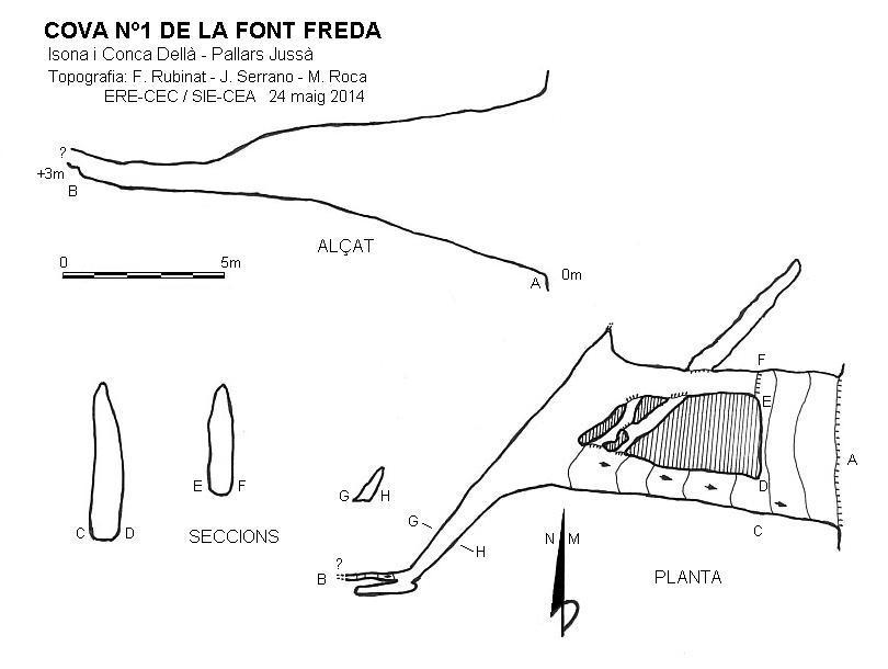 topo Cova Nº1 de la Font Freda