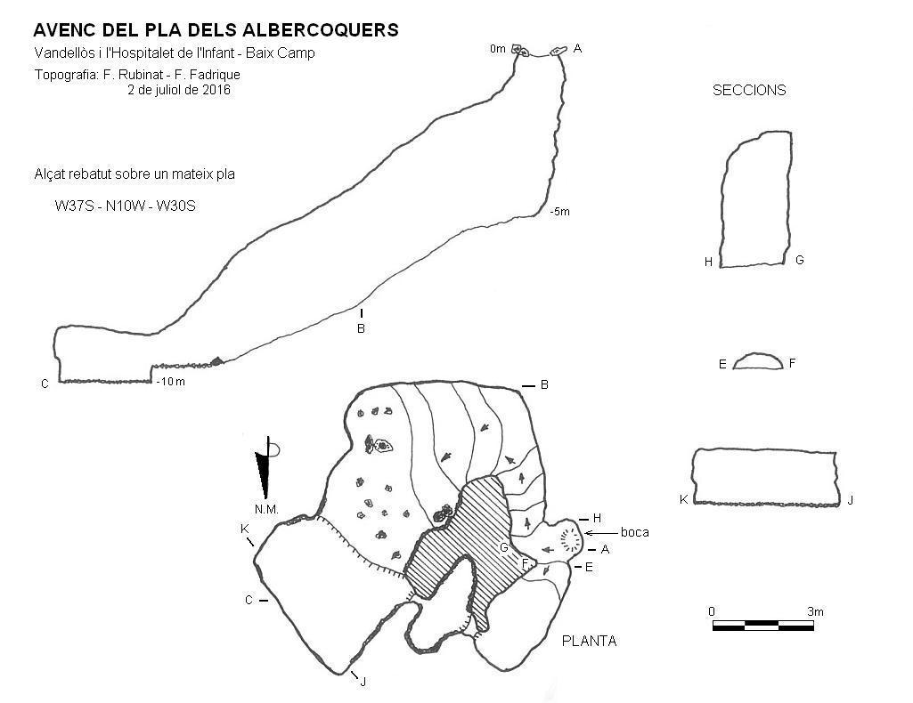 topo Avenc del Pla dels Albercoquers
