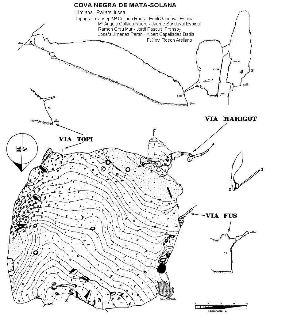 topo Cova Negra de Mata-solana
