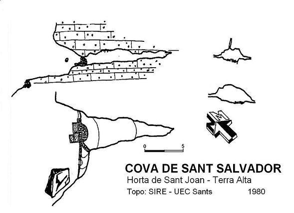 topo Cova de Sant Salvador