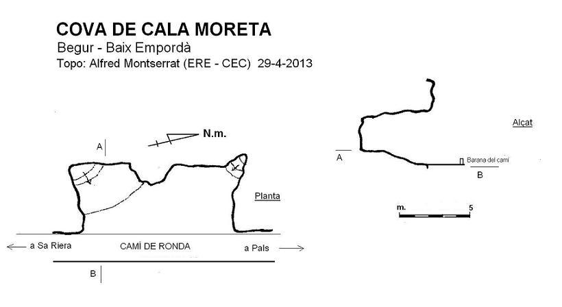 topo Cova de Cala Moreta