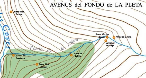 topo Avenc de la Tartera