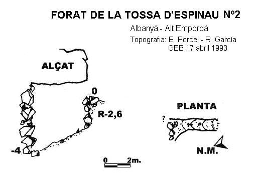 topo Forat de la Tossa d'espinau Nº2