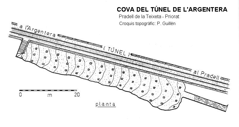 topo Cova del Túnel de l'argentera