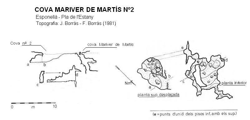 topo Cova de Mariver de Martís Nº2