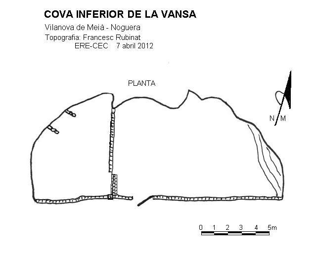 topo Cova Inferior de la Vansa