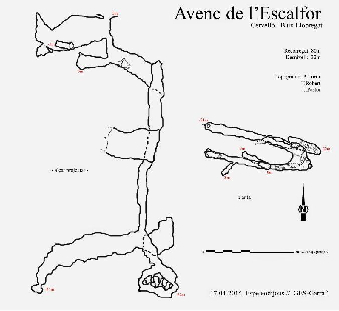 topo Avenc de l'Escalfor