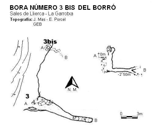 topo Bora Número 3 Bis del Borró