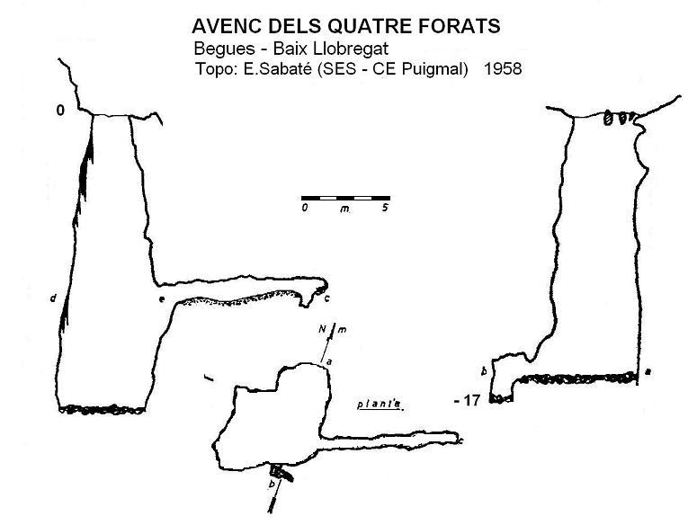 topo Avenc dels Quatre Forats