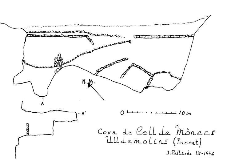 topo Cova del Coll de Mònecs