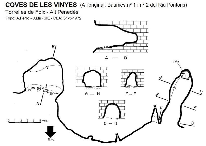 topo Coves de les Vinyes