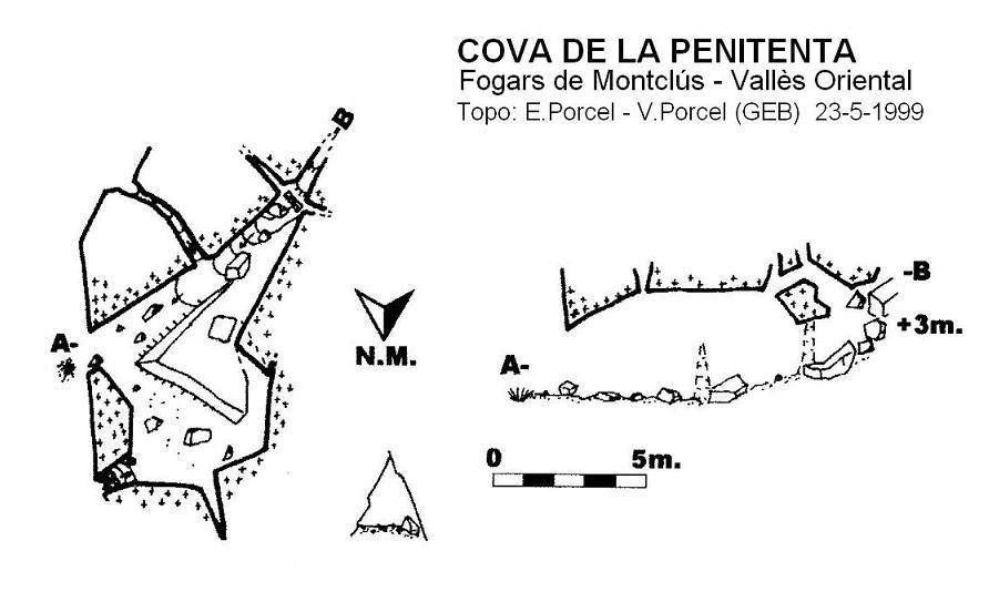 topo Cova de la Penitenta