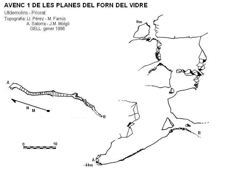 topo Avenc 1 de les Planes del Forn del Vidre