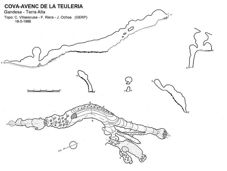 topo Cova-avenc de la Teuleria