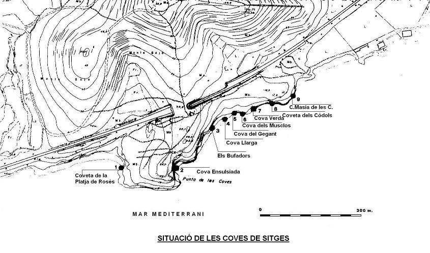 topo Coves de Sitges