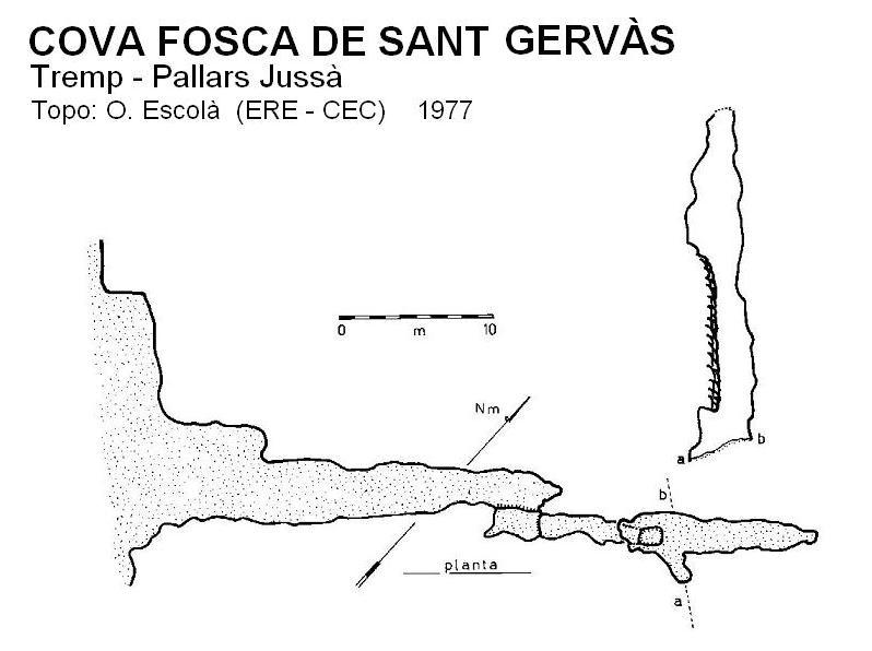 topo Cova Fosca de Sant Gervàs