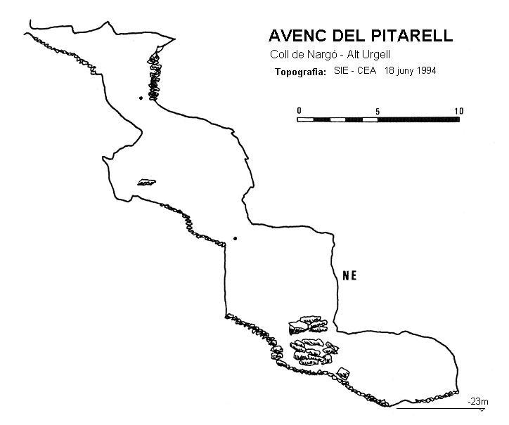 topo Avenc del Pitarell