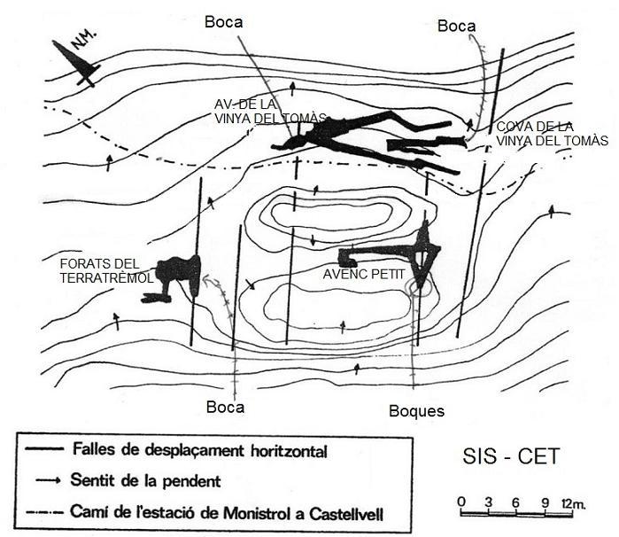 topo Forats del Terratrèmol
