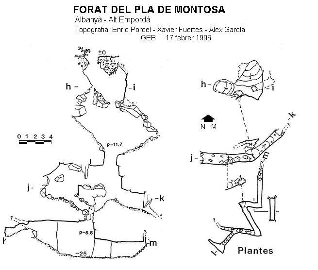 topo Forat del Pla de Montosa