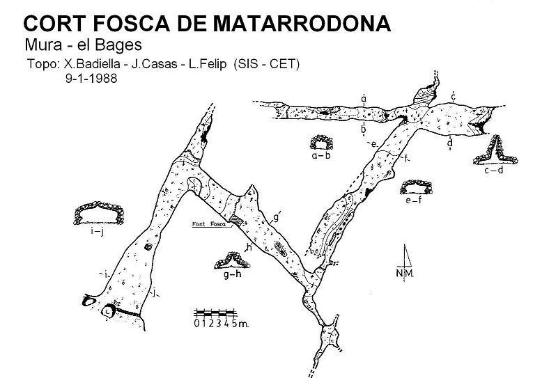 topo Cort Fosca de Matarrodona