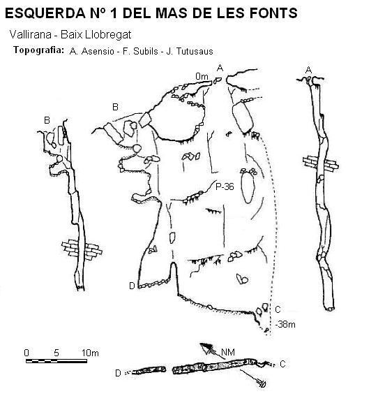 topo Esquerda Nº1 del Mas de les Fonts
