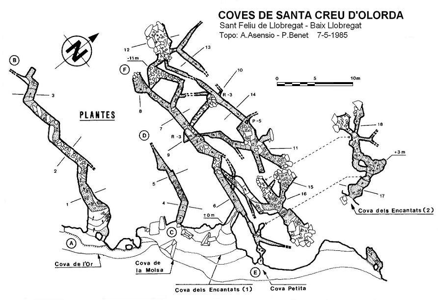 topo Coves de Santa Creu d'olorda