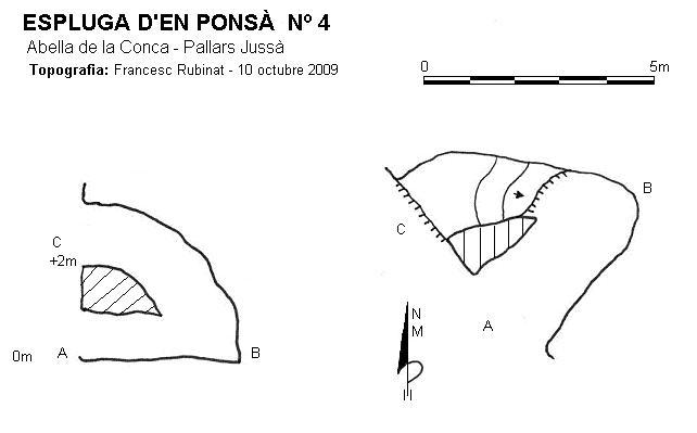 topo Espluga d'en Ponsà Nº4