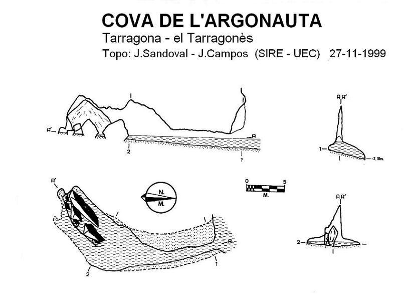 topo Cova de l'Argonauta
