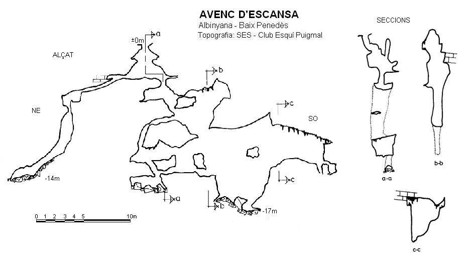 topo Avenc d'Escansa